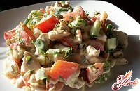 Салат греческий с курицей