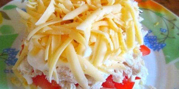 Салат Эдельвейс с курицей — 2 рецепта