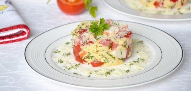 Салат «Красное море» из морепродуктов