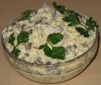 Салат с копченой грудкой и фасолью
