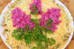 Слоеный салат Сирень